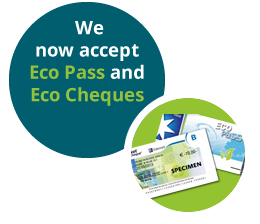 Nous acceptons les eco chèques et les eco pass