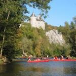 Lesse, kayak et Château de Walzin