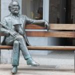 Statue de Adolphe Sax à Dinant